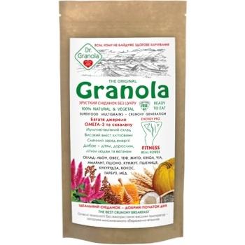 Гранола Golden kings of Ukraine Dr.Granola хрусткий сніданок без цукру 150г