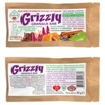 Golden kings of Ukraine Dr.Granola Grizzly for diabetics apple-cinnamon free sugar grains candy bar 30g