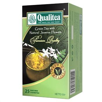 Зеленый чай Кволити с жасмином в пакетиках 25х2г Украина