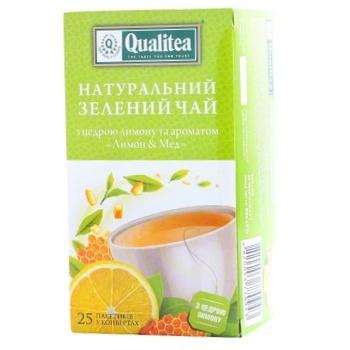 Green tea Qualitea Lemon and Honey 25x2g teabags