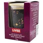 Tea Livee with vanilla black 70g cardboard packaging Poland