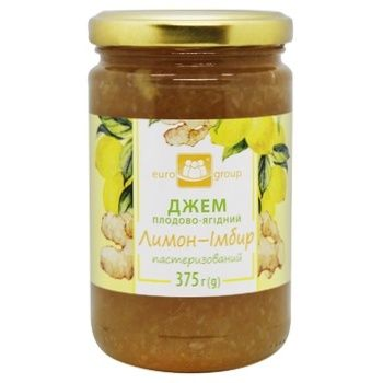Eurogroup Lemon-ginger Jam 375g