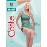 Tights Conte Nuance bronze polyamide for women 15den 4size Belarus