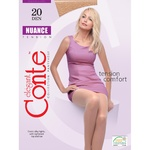 Conte Nuance 20 den Women's Black Tights size 2
