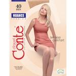 Колготы женские Conte Nuance 40ден р.4 Bronz