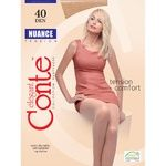 Conte Elegant Nuance Nero 40 Den Womens Tights Size 2