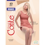 Колготы женские Conte Nuance 40ден р.4 Mocca