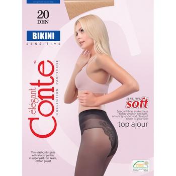 Колготы женские Conte Elegant Bikini Nero 20 Den размер 3