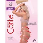 Tights Conte Active mocha polyamide for women 20den 101g Belarus