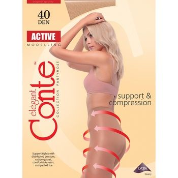 Колготы женские Conte Active 40 ден р.4 Natural