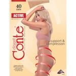 Conte Active 40 den Women's Nero Tights Size 4