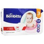 Підгузники дитячі Bembitto 3 4-9кг 54шт