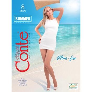 Колготы женские Conte Summer 8ден р.4 Natural