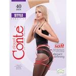 Conte Style Female Black Tights 40 Den Size 2