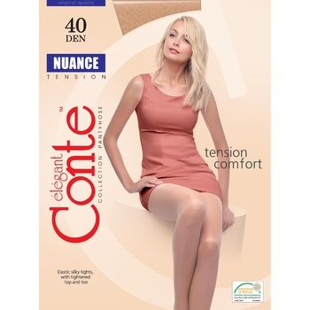 Колготки женские Conte Nuance 40ден р.4 Grafit
