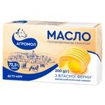 Масло Агромол Селянское сладкосливочное 72,5% 200г