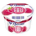 Йогурт Bauer Fru Fru Малина 0,1% 100г