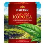 Чай чорний Майский Царська Корона в пакетиках 100шт*2г - купити, ціни на Ашан - фото 1