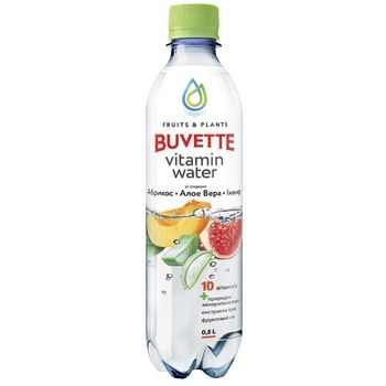Напиток Buvette сокосодержащий со вкусом абрикоса алоэ вера и инжира 0,5л - купить, цены на Ашан - фото 1