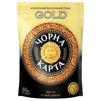 Кава Чорна Карта Gold розчинна 60г - купити, ціни на Ашан - фото 1
