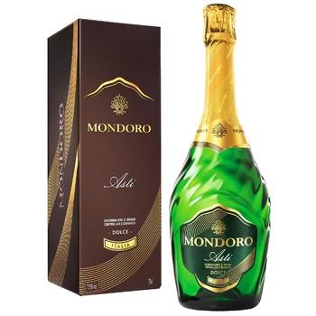 Mondoro Asti Dolce DOCG white sweet sparkling wine 7,5% 0.75l - buy, prices for CityMarket - photo 1