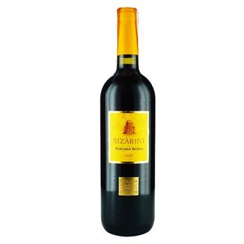 Вино Sizarini Toscana Rosso красное сухое 13% 0,75л