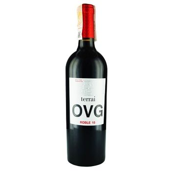 Вино Terrai OVG Roble 17 Garnacha красное сухое 14% 0,75л