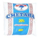 Сметана Кілія Українська 20% 400г - купити, ціни на Ашан - фото 1