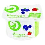 Йогурт Ашан с наполнителем лесная ягода 1.5% 115г