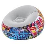 Кресло Bestway Graffiti надувное 112x112x66см