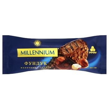 Rud' Millennium Milk Chocolate and Hazelnuts Popsicle Ice Cream 80g