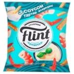 Сухарики Flint со вкусом креветок 80г + соус тарттар 15г