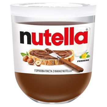 Ореховая паста Nutella с какао 200г - купить, цены на Novus - фото 1