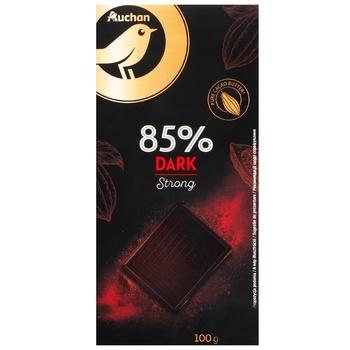 Шоколад Ашан черный 85% 100г