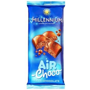 Шоколад молочный Millennium пористый 80г