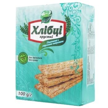 Galleti Yeast & Sugar Free Wheat Crispbread With Seaweed 100g - buy, prices for CityMarket - photo 1