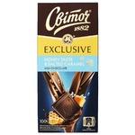 Шоколад молочний СВІТОЧ® Exclusive зі смаком меду та солоною карамеллю 100г