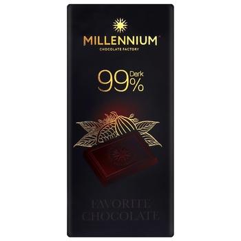 Millennium Favorite Dark Chocolate 99% 100g - buy, prices for CityMarket - photo 1