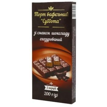 Торт Суббота шоколадно-вафельный 200г