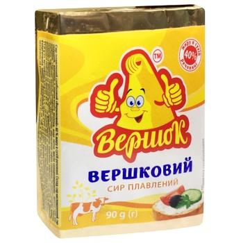 Сир плавлений Вершок 40% 90г Вершковий