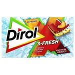 Жувальна гумка Dirol X-Fresh Свіжість персика і кавуна 13,5г