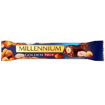 Шоколад молочный Millennium Golden Nut с начинкой и цельными лесными орехами 40г