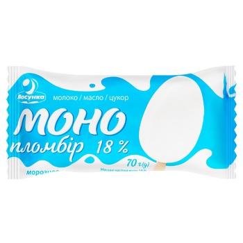 Морозиво Ласунка Моно пломбір ескімо 70г - купити, ціни на ЕКО Маркет - фото 1
