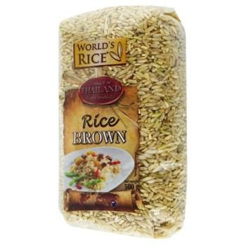 World's Rice Brown Rice 500g - buy, prices for Auchan - photo 1