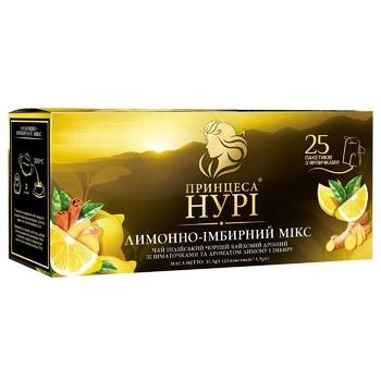 Чай чорний Принцеса Нурі Лимонно-імбирний Мікс 25шт 1,5г - купити, ціни на CітіМаркет - фото 3