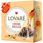 Чай чорний Lovare Creme Brulee листовий байховий в пірамідках 15*2г