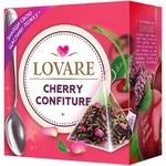 Чай Lovare Cherry Confiture суміш чорного та зеленого в пірамідках 15*2г