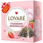 Чай зеленый Lovare Strawberry Marshmallow листовой байховый в пирамидках 15*2г