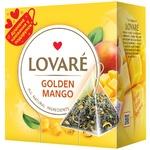 Чай зелений Lovare Golden Mango листовий байховий в пірамідках 2г 15шт