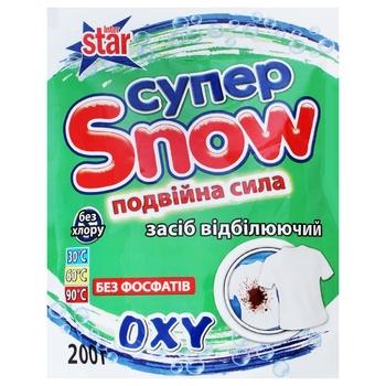 Засіб відбілюючий Супер Snow Подвійна сила 200г - купити, ціни на Ашан - фото 1